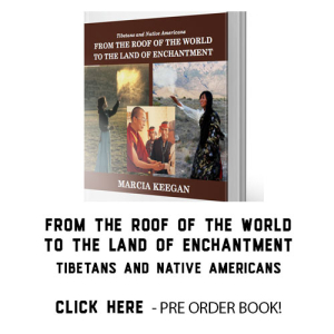 Front Book Roof Of The World To The Land Of Enchantment- TIbetans And Native Americans